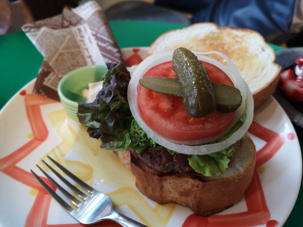 ジャックカフェのハンバーガーの具