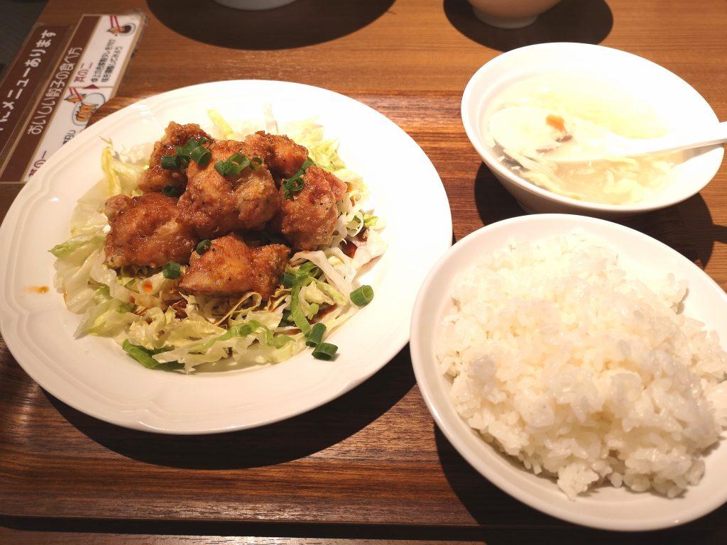関内餃子軒メニュー_ランチ油淋鶏セット