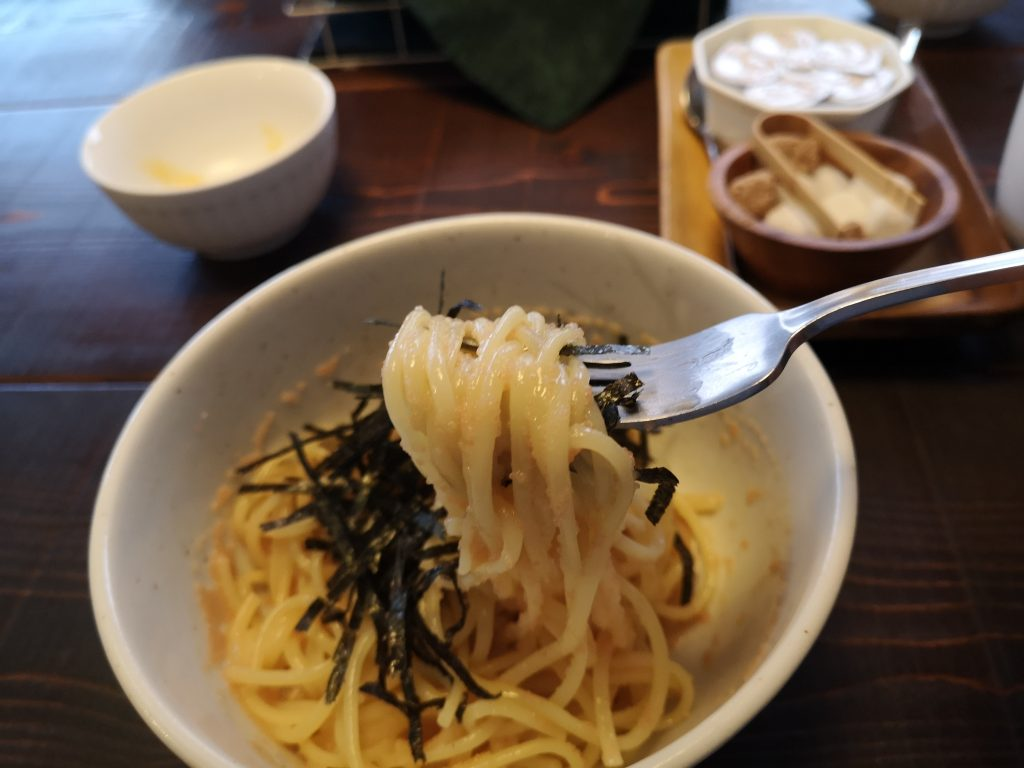 JPASTA横浜元町本店たらこスパゲッティの生パスタ麺