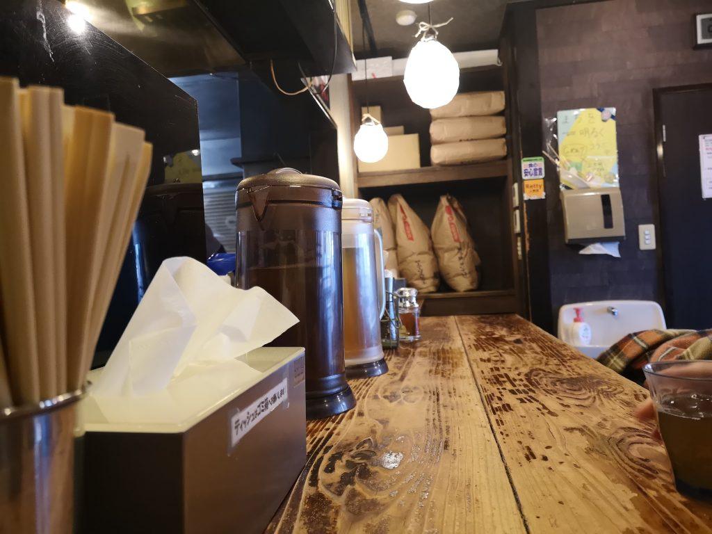 上大岡ラーメンG麺7カウンター席