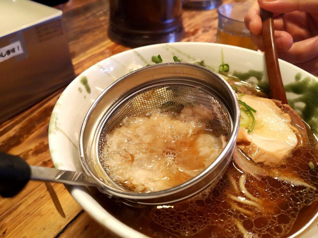 G麺7ラーメン追い鶏節ラーメン正油の鶏節