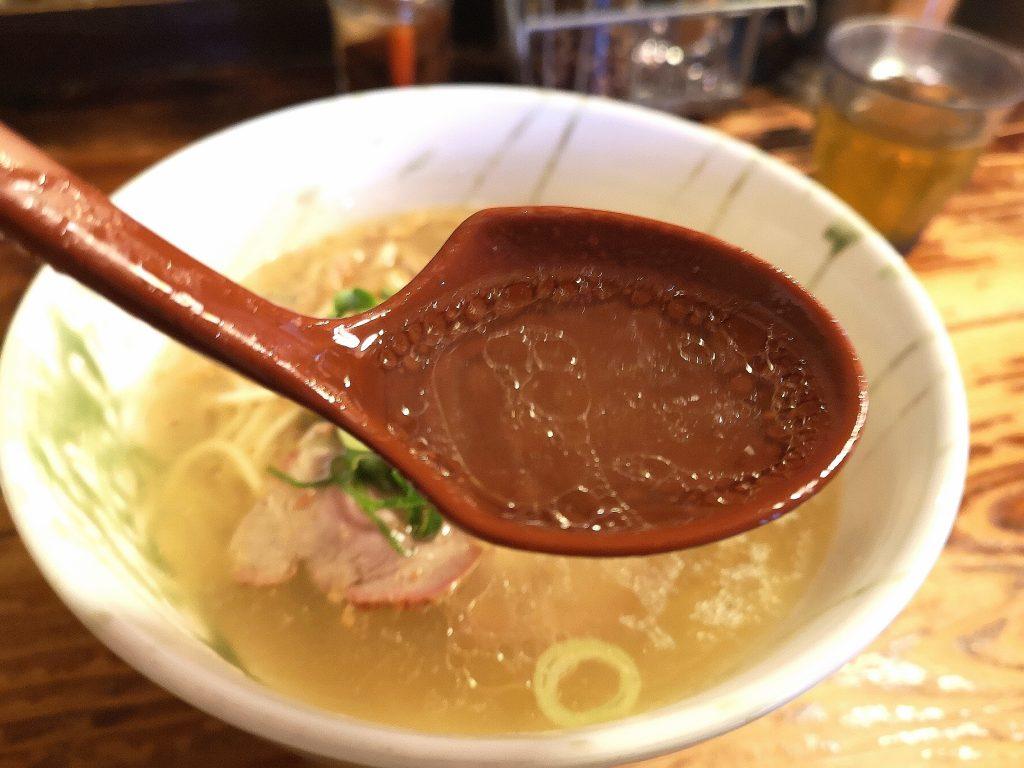 G麺7ラーメン塩のスープ